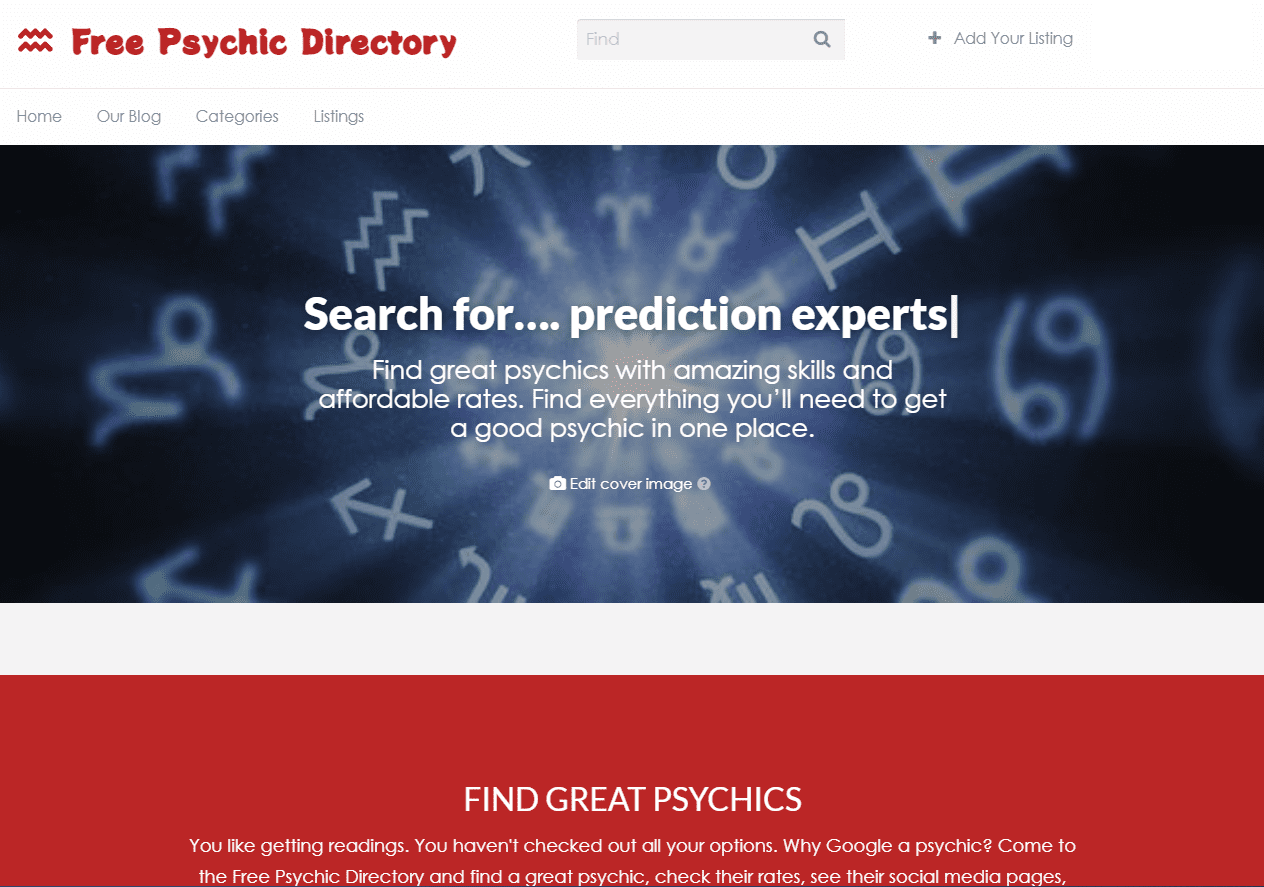 free psychic directory